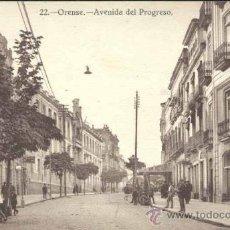 Postales: ORENSE.- AVENIDA DEL PROGRESO. Lote 38455176