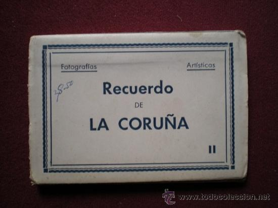 4687 - LA CORUÑA-BLOK RECORDATORIO DE 10 INTERESANTES FOTOS ARTISTICAS DE 9X6,5 CM - ARRIBAS (Postales - España - Galicia Moderna (desde 1940))