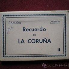 Postales: 4687 - LA CORUÑA-BLOK RECORDATORIO DE 10 INTERESANTES FOTOS ARTISTICAS DE 9X6,5 CM - ARRIBAS . Lote 38786817