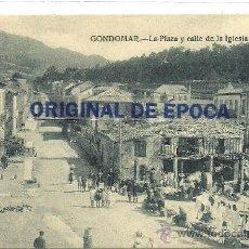 Postales: (PS-36085)POSTAL DE GONDOMAR-LA PLAZA Y CALLE DE LA IGLESIA. Lote 38925461