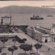 Postales: VIGO - MUELLE DE PASAJEROS - EUGENIO TETILLA, VIGO - HAUSER Y MENET. Lote 38935962