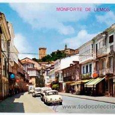 Postales: LUGO MONFORTE DE LEMOS CALLE DEL CARDENAL. ED. ARRIBAS. SIN CIRCULAR. Lote 38945248