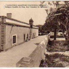 Postales: SANATORIO MARÍTIMO NACIONAL DE OZA. ANTIGUO CASTILLO, HOY COMEDOR DE COLONIAS. FOTO BLANCO. . Lote 38984650