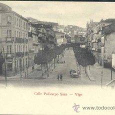 Postales: VIGO (PONTEVEDRA).- CALLE POLICARPO SANZ. Lote 38999225