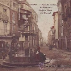 Postales: ORENSE. PLAZA DE TOMÁS Mª MOSQUERA (ANTIGUA PLAZA DEL HIERRO).. Lote 39249944