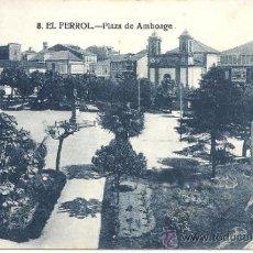 Postales: PS0678 EL FERROL 'PLAZA DE AMBOAGE'. CASA LEIRA. NÚM. 8. CIRCULADA EN 1926. Lote 39291957