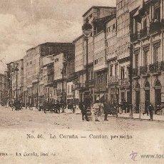 Postales: LA CORUÑA Nº 46 CANTON PEQUEÑO LIBRERIA DE LINO PEREZ SIN CIRCULAR. Lote 39703970