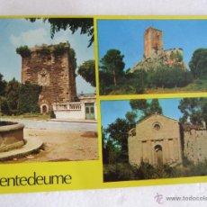 Postales: POSTAL GALICIA - PUENTEDEUME - TORRE DEL HOMENAJE - CASTILLO DE ANDRADE Y SAN MIGUEL DE BREAMO - 69. Lote 39889692