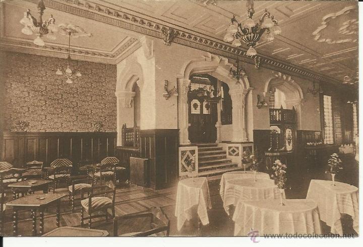ANTIGUA POSTAL DE LUGO , ESTACION DE VERANO HOTEL MENDEZ NUÑEZ, SALON DE TE Y FUMOIR (Postales - España - Galicia Moderna (desde 1940))