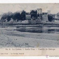 Postales: LA CORUÑA. SANTA CRUZ. CASTILLO DE QUIROGA.. Lote 40164309