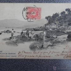 Postales: GALICIA VIGO PONTEVEDRA PLAYA DE ESPIÑEIRO POSTAL ANTIGUA HAUSER Y MENET. Lote 40152037