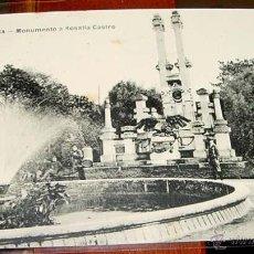 Postales: ANTIGUA POSTAL DE LA CORUÑA- MONUMENTO A ROSALIA CASTRO- CIRCULADA CON SELLO 1922. Lote 39518035