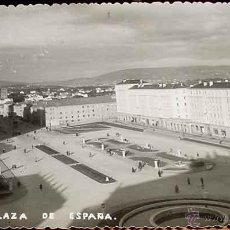Postales: ANTIGUA FOTO POSTAL DE EL FERROL . PLAZA DE ESPAÑA . ESCRITA. Lote 39522743