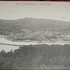 Postales: ANTIGUA POSTAL DE PONTEVEDRA - GALICIA - VISTA GENERAL - NO CIRCULADA.. Lote 39523024