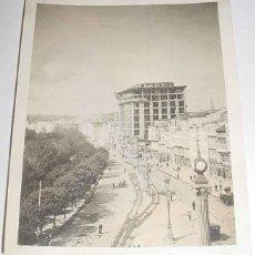 Postales: ANTIGUA FOTO DE LA CORUÑA - CONSTRUCCION DEL EDIFICIO DEL BANCO PASTOR, TOMADA EN 1922 - 11,1 X 8,5 . Lote 39545903
