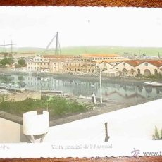 Postales: ANTIGUA FOTO POSTAL COLOREADA DEL EL FERROL DEL CAUDILLO - VISTA PARCIAL DEL ARSENAL, ED. ARRIBAS - . Lote 39547098