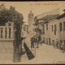 Postales: ANTIGUA POSTAL DE NOYA (LA CORUÑA) CALLE DEL PUENTE - SIN CIRCULAR - EDICION R. VARELA - THOMAS.. Lote 39550444