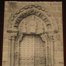 Postales: ANTIGUA POSTAL DE NOYA (LA CORUÑA) PUERTA LATERAL DE LA IGLESIA DE SAN MARTIN - SIN CIRCULAR - EDICI. Lote 39550449