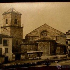 Postales: ANTIGUA FOTO POSTAL DE LA CORUÑA - IGLESIA DE SANTIAGO - FOTO FERRER - NO CIRCULADA.. Lote 39587808
