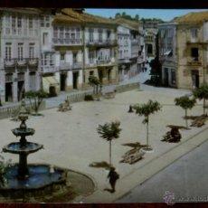 Postales: ANTIGUA FOTO POSTAL DE CELANOVA, ORENSE, N. 506, LA PLAZA MAYOR DE LA VILLA, ED. LA REGIO, NO CIRCUL. Lote 39611016