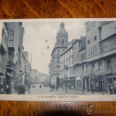 Postales: LA CORUÑA - CALLE SAN ANDRÉS -. Lote 40330584
