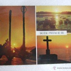 Postales: POSTAL GALICIA - PUESTAS DE SOL - 1971 - CIRCULADA - FAMA 3255. Lote 40371445