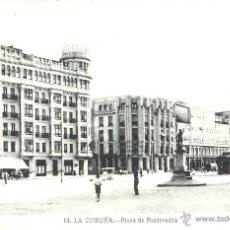 Postais: LA CORUÑA Nº14 PLAZA DE PONTEVEDRA L. ROISIN FOTG. SIN CIRCULAR. Lote 40397304