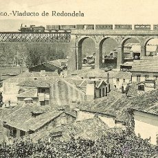 Postales: POSTAL VIADUCTO CORUÑA FERROCARRIL - TREN - REDONDELA - PONTEVEDRA - GALICIA - AÑOS 10. Lote 40422690