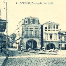 Postales: POSTAL PORRIÑO - PONTEVEDRA - GALICIA - PLAZA DE LA CONSTITUCION. Lote 40422970