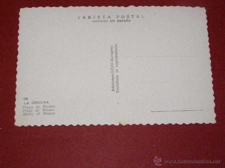 Postales: Playa de Riazor - Coruña - Ediciones lujo Zaragoza - Sin circular - - Foto 2 - 40447517