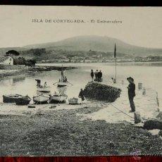 Postales: ANTIGUA POSTAL DE LA ISLA DE CORTEGADA - PONTEVEDRA - EL EMBARCADERO - ED. E.J.G. - CIRCULADA EN 191. Lote 40590482