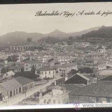 Postales: RRR POSTAL FOTOGRAFICA DE REDONDELA PONTEVEDRA - PUENTE FERROCARRIL A VISTA DE PAJARO - MARGARA 1920. Lote 40627606