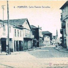 Postales: RRR POSTAL PORRIÑO - PONTEVEDRA - CALLE RAMON GONZALEZ - FOTOTIPIA THOMAS - SERVANDO DIZ FERRETERIA. Lote 40668503
