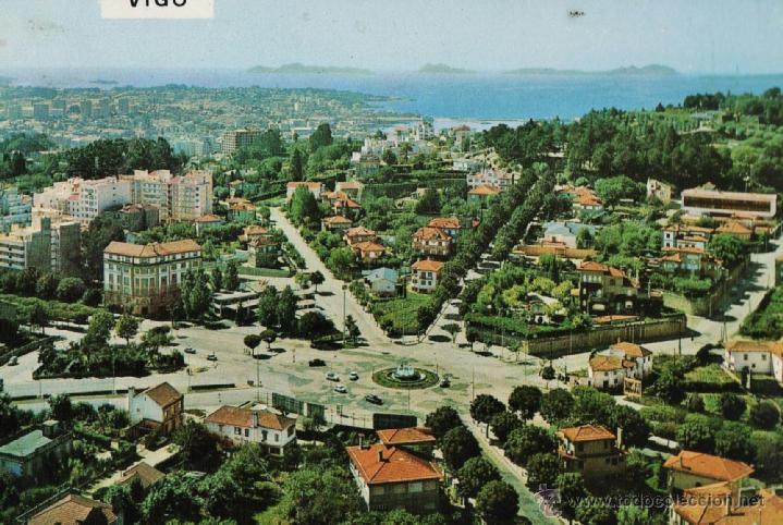 VIGO - PLAZA DE ESPAA Y VISTA GENERAL - Nº 3125 - ED. FAMA - NUEVA - AÑO 1971 - RD27 - X (Postales - España - Galicia Moderna (desde 1940))