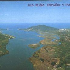 Postales: PONTEVEDRA - DESEMBOCADURA DEL RIO MIÑO. Lote 40902644