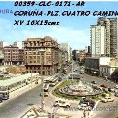 Cartes Postales: POSTAL LA CORUÑA PLAZA DE CUATRO CAMINOS EDITORIAL ARRIBAS Nº171/359 AÑOS 60 Y 70*. Lote 75528390
