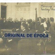 Postales: (PS-38530)POSTAL FOTOGRAFICA DE SANTIAGO-HOMENAJE A AUGUSTO GONZALEZ BESADA,NOVIEMBRE 1909. Lote 41205237