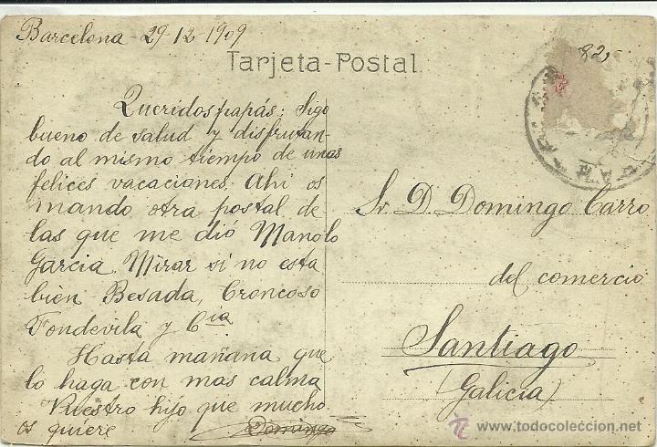 Postales: (PS-38530)POSTAL FOTOGRAFICA DE SANTIAGO-HOMENAJE A AUGUSTO GONZALEZ BESADA,NOVIEMBRE 1909 - Foto 2 - 41205237