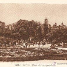 Postales: VIGO Nº 31 PLAZA DE COMPOSTELA HUECOGRABADO FOURNIER SIN CIRCULAR. Lote 41298419