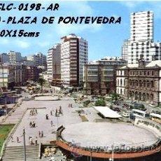 Postales: POSTAL CORUÑA PLAZA DE PONTEVEDRA EDICIONES ARRIBAS Nº 198/435 AÑO 1975**. Lote 296883773