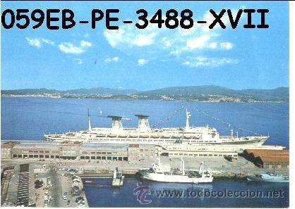 POSTAL VIGO ESTACION MARITIMA EDITORIAL PERLA Nº3488/59EB AÑOS 60 Y 70* (Postales - España - Galicia Moderna (desde 1940))