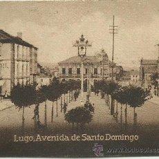 Postales: POSTAL ORIGINAL DECADA DE LOS 30. LUGO. Nº 175. AVENIDA DE SANTO DOMINGO. VER TAMAÑO Y EXPLICACION. Lote 41568523