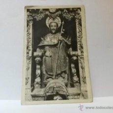 Postales: POSTAL SANTIAGO CATEDRAL EFIGIE PÉTREA DEL APOSTOL SANTIAGO. ESCRITA.. Lote 41612182