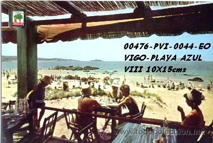 POSTAL VIGO PLAYA AZUL EDITORIAL ESCUDO DE ORO Nº44/476 AÑOS 60 Y 70* (Postales - España - Galicia Moderna (desde 1940))