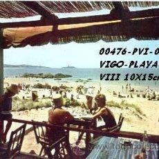 Postales: POSTAL VIGO PLAYA AZUL EDITORIAL ESCUDO DE ORO Nº44/476 AÑOS 60 Y 70*. Lote 162296148