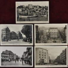 Postales: LOTE DE 5 ANTIGUAS FOTO POSTALES DE VIGO. PONTEVEDRA. DIFERENTES VISTAS DE LA CIUDAD. L. ROISIN. Lote 41873461