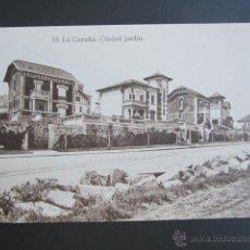 Postales: POSTAL LA CORUÑA. CIUDAD JARDÍN. . Lote 42130830