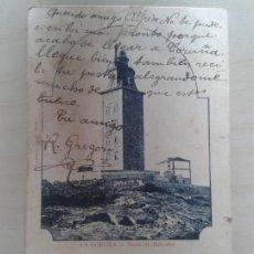 Postales: POSTAL ANTIGUA GALICIA. LA CORUÑA. TORRE DE HÉRCULES. DORSO SIN DIVIDIR. CIRCULADA EL 29/07/1905.. Lote 42226843