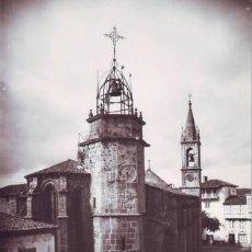 Postales: BETANZOS (LA CORUÑA) IGLESIA Y TORRE MUNICIPAL.. Lote 42229420