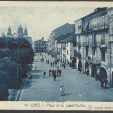 Postales: LUGO - 18 - PLAZA DE LA CONSTITUCION - ROISIN - (20619). Lote 42409331